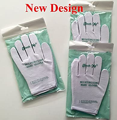 3 pairs/set Touch Me (TM) Moisturizing Hand Gloves, 94% Cotton / 6% Spandex (Set of 3 Pairs)(FREE SHIPPING)