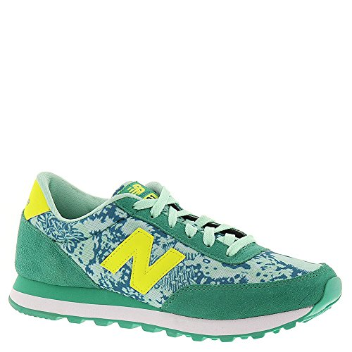 New Balance Women'S Wl501 Classic Shoe Running Shoe,Green/Yellow,7.5 B Us