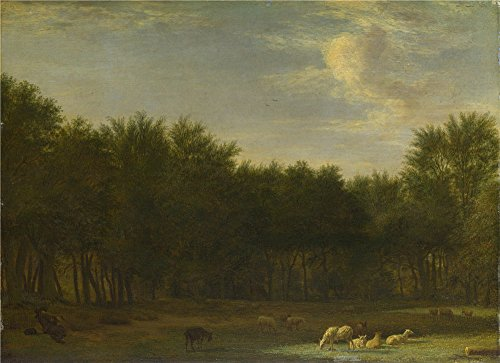 oil-painting-adriaen-van-de-velde-the-edge-of-a-wood1658-30-x-41-inch-76-x-105-cm-on-high-definition