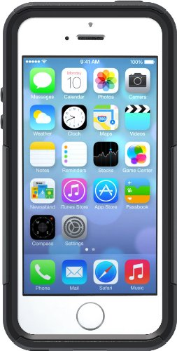 OtterBox COMMUTER SERIES Case for iPhone 5/5s/SE - Retail Packaging - BLACK (Iphone 5s Protective Black Case compare prices)