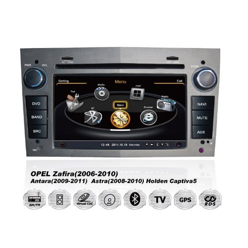 Realmedia Opel Astra Corsa Zafira Oem Digital Touch Screen Car Stereo 3D Navigation Gps Dvd Tv Usb Sd Ipod Bluetooth Hands-Free Multimedia Player Gry +++With Realmediashop Germany Warranty+++