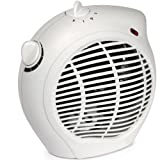 Royal 1500 Watt Whisper Quiet Fan Space Heater Compact with Smart Adjustable Thermostat