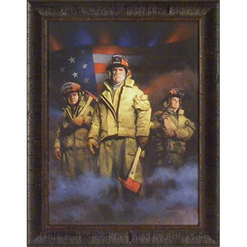 Standing Strong by Charles Freitag 22x28 Fireman Firefighters Art