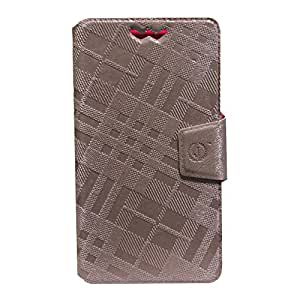 Jo Jo Cover Krish Series Leather Pouch Flip Case With Silicon Holder For Xolo Play T1000 Light Pink