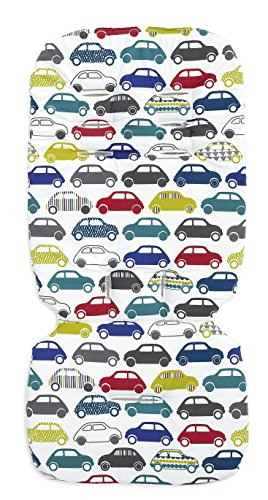Mamas & Papas Luxury Memory Foam Liner - Traffic Jam - 1