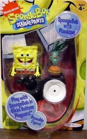 Picture of Jakks Pacific SpongeBob Squarepants Action Figure Spongebob with Plankton (B002LHM6K2) (Jakks Pacific Action Figures)