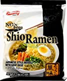 Japanese Shio Instant Ramen Noodle Soup (Non Fried) Low Sodium (5 Pack)