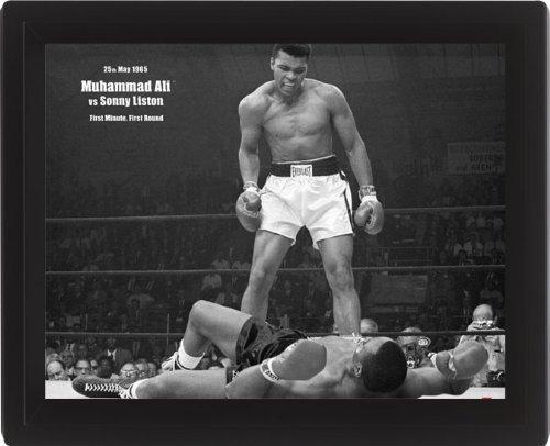 Pyramid International - Poster lenticolare incorniciato in formato 3D, 10 x 8 cm, Muhammad Ali Vs Liston
