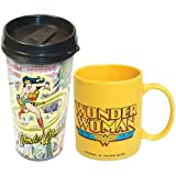 ICUP DC Comics Wonder Woman 2-Pack Travel and Ceramic Mug