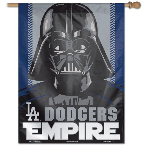 "Los Angeles Dodgers MLB Star Wars Darth Vader 27"" X 37"" Vertical Flag"
