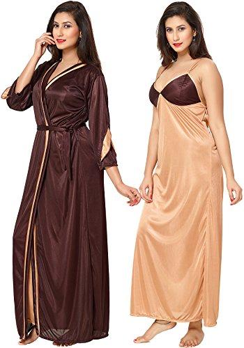 29% OFF on Fashigo Women s 2 Piece Satin Nighty (Free Size) on Amazon  ff8d0044a