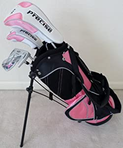 Girls Junior Golf Club Set with Stand Bag for Kids Ages 3-6 Pink Color Right Handed... by PG Golf Equipment