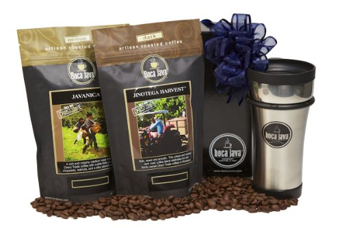 Boca Java Roast to Order Coffee, Direct Trade Coffee Duo Gift Set - with Whole Bean Coffee