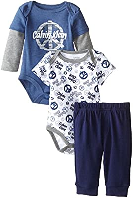 Calvin Klein Baby Boys' Two Bodysuits with Pants