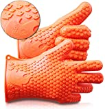 Ekogrips Max Heat Silicone BBQ Grill Oven Gloves - Best Heat Protection - Designed In USA - 3 Sizes