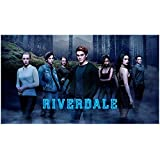 Riverdale (TV Series 2017 - ) 8 inch by 10 inch PHOTOGRAPH K.J. Apa from Knees Up w/Cast in Mist Title Poster kn
