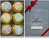 Art Naturals Bath Bombs Holiday Gift Set - 6 X 4.1 Oz Ultra Lush Essential Oil Handmade Spa Bomb Fizzies - Organic & Natural Ingredients & Shea Butter for Moisturizing Dry Skin - Relaxation In a Box
