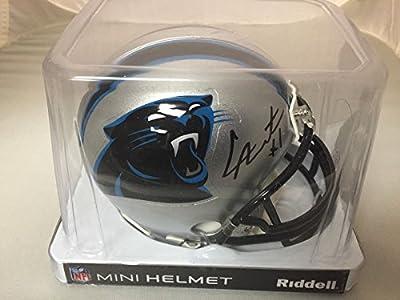 Autographed/Signed Cam Newton Carolina Panthers Football Mini Helmet GTSM COA