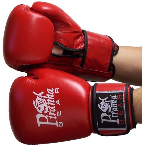Piranha Gear Mesh Boxing Gloves, Red, 12 oz. (Piranha Gear Tie compare prices)