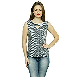 LEBE Women's casual printed sleeveless cotton top