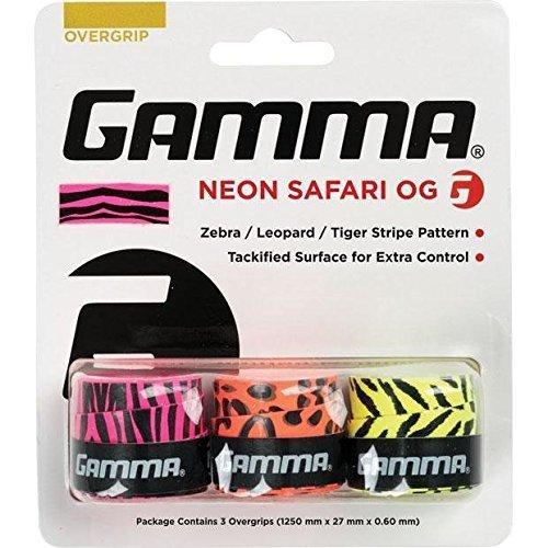 GAMMA-over-Grip-Neon-Safari-3-unidades-Zebra-Leopard-Tiger-color-blanco-One-size-anapo