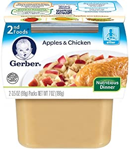Gerber 2nd Foods, Apples and Chicken, 7-Ounce (Pack of 8)