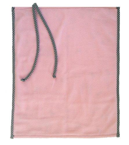Patricia Ann Designs Paris Fleece Changing Mat with Check Trim, Pink/Black