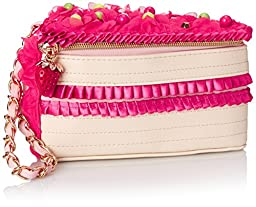 Betsey Johnson Cake Clutch, Fuchsia, One Size