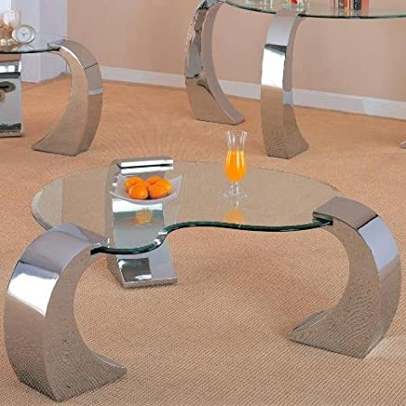 Bevelled Kidney Shaped Coffee Table