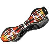 MAXOfit Waveboard Pro XL bis 95 kg mit Tasche und Leuchtrollen, 88x23x30