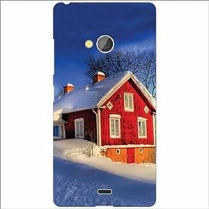Microsoft Lumia 540 Dual SIM Back Cover - Silicon Snow Fall Designer Cases