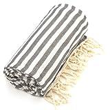Linum Home Textiles Fun in The Sun Pestemal/Fouta Towel, Graphite Grey