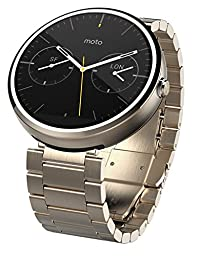 Motorola Moto 360 Smart Watch - Champagne (Certified Refurbished)