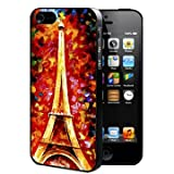 Paris, France Eiffel Tower Oil Painting Rubber Silicone TPU Cell Phone Case (iPhone 5/5s)