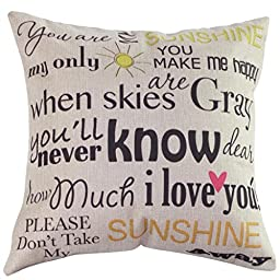 SMTSMT Vintage Cotton Linen Blended Cushion Cover Throw Pillow Case