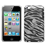 Zebra Print Clear Flexi Gel Skin Case for Apple iTouch 4 (iPod Touch 4th Generation)