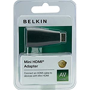 Belkin Hdmi/hdmi-mini Adapter Schwarz Goldkontakt from Belkin Components