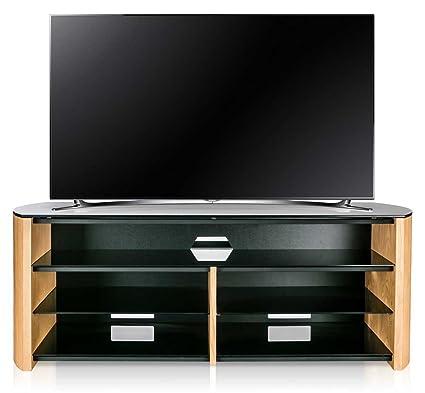Alphason Finewoods FW1350SB-LO Oak TV Stand with Soundbar Shelf