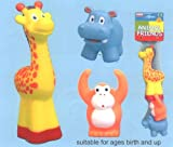 Animal Friends toys for babies Giraffe Monkey and Hippo
