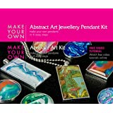 Glass Pendant Jewelry Making Craft Kit (Abstract Art) Make Your Own Costume Jewelry Pendant Necklace. Best Craft Kit for Girls, Beginners, Teens and Adults. Girls Jewelry Birthday Gift. Make 6 Pendants, Includes All the Jewelry Supplies and Jewelry Findings, Craft Supplies Needed to Get Started. Instructions and Video Tutorials