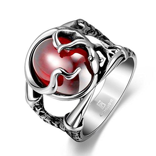 Highdas Anello Personalitš€ Moda Fine Pop Uomo 316 Steel Corundum DomineeRing Anelli Ring Anelli Party Gioielli Accessori Regalo