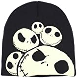 Disney Men's Jack Skellington Glow Beanie, Black, One Size