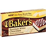 Baker's, Premium White Chocolate Baking Bar, 4oz Bar (Pack of 4)