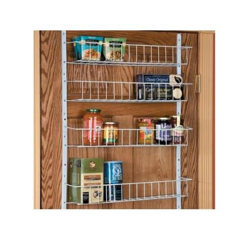 """Pantry Door Shelving Systems: 24""""-Wide, 8-Shelf Adjustable Pantry Door Rack"""