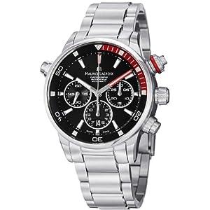 Maurice Lacroix Men's PT6018-SS002330 Pontos Black Chronograph Dial Watch