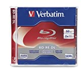 Verbatim 97536 50 GB 2x Blu-ray Double Layer ReWritable Disc BD-RE DL, 1-Disc Jewel Case