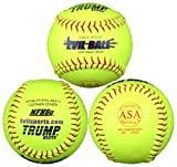 Trump® NFHS-FP-EVILASAY Evil Sports 12 Inch 47/375 ASA Premium Leather Fastpitch Softball (Sold in Dozens)