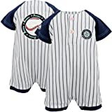 MLB Majestic Seattle Mariners Newborn Pinstripe Creeper - White (3-6 Months) at Amazon.com
