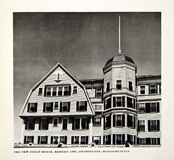 1949 Rotogravure New Ocean House Swampscott Massachusetts Architecture Historic