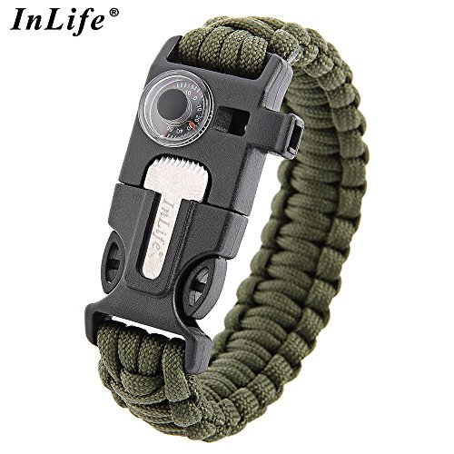 Inlife-Multifunctional-5-in-1-Outdoor-Survival-Thermometer-Knitted-Survival-Bracelet-FlintWhistleFire-Starter-Scraper